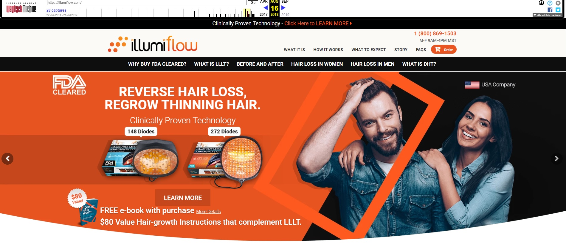 illumiflow laser caps home page