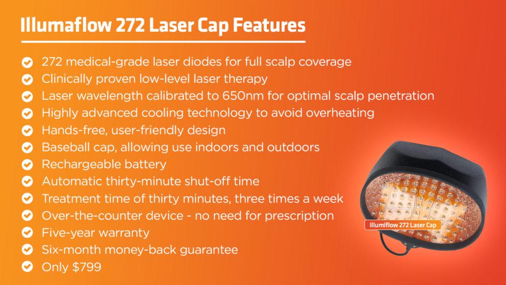 Illumiflow 272 Laser Cap features
