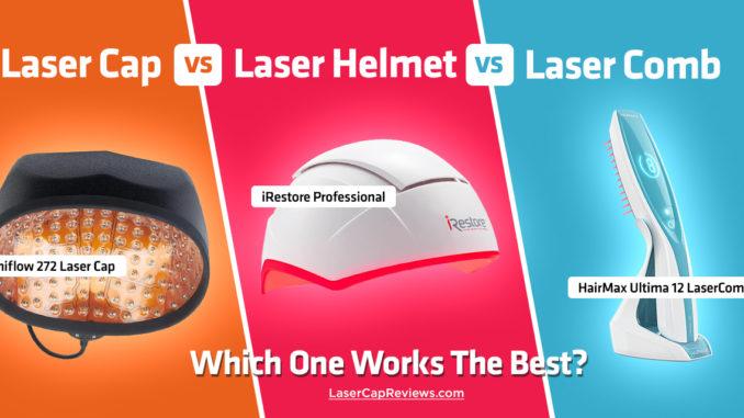 Laser Caps vs Laser Helmet vs Laser Comb
