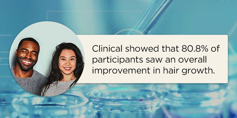 clinical results for hair growth
